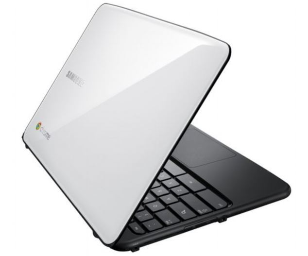Google's Chromebook, a £229 laptop made by Samsung. Reports claim the search giant is developing a touch version for release later this year