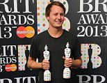 Ben Howard with his British Breakthrough and British Male awards