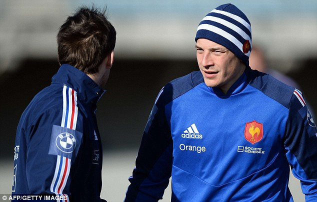 Game plan: Francois Trinh-Duc (right) says France will look to target Owen Farrell