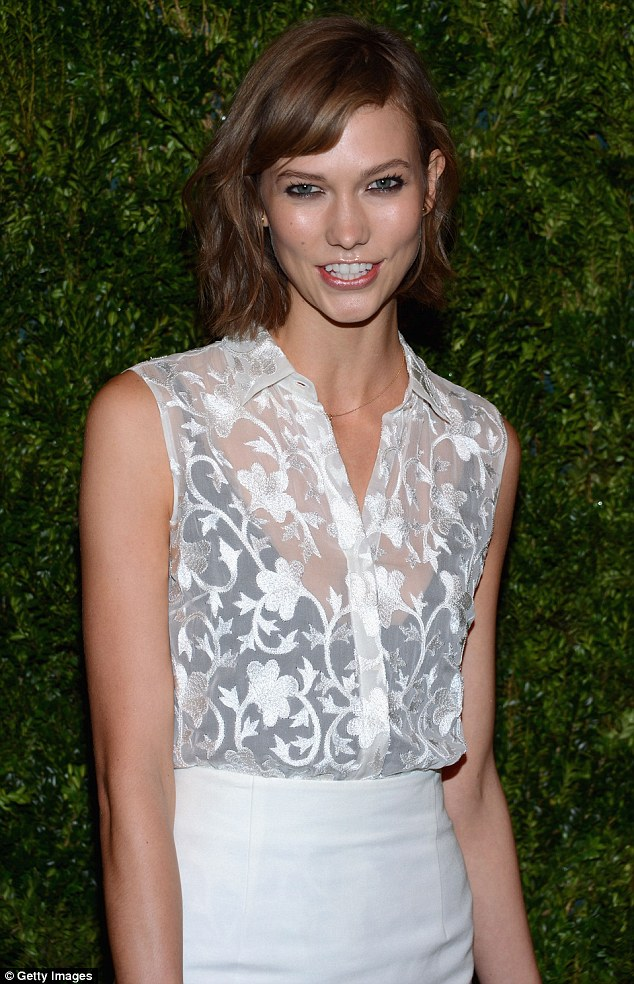 New look: The fashion darling showed off her new short hairstyle during a Vogue event in November