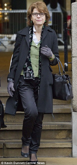 Tense: Vicky Pryce arrives at Southwark Crown Court today to hear the jury's verdict in her perverting the course of justice case
