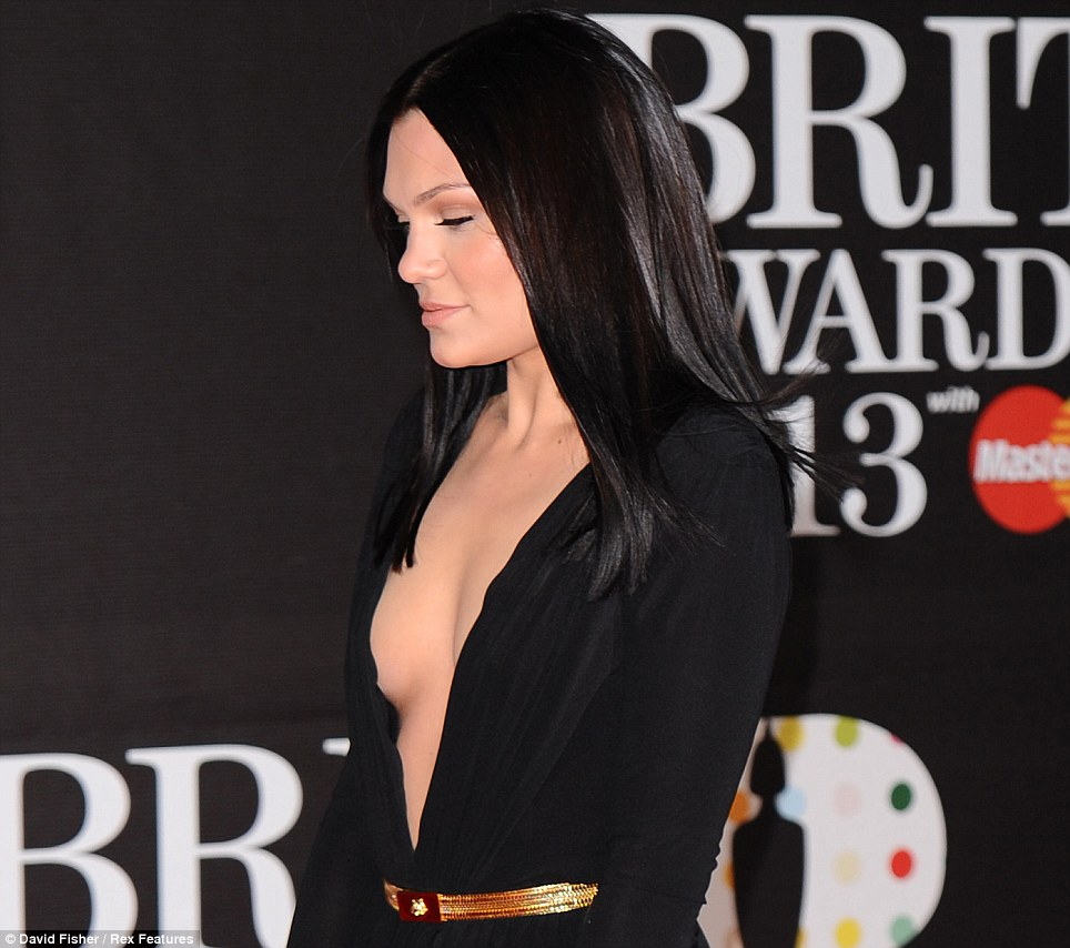 Confident: Jessie smiled as if she knew she look good as she attended to watch the proceedings unfold