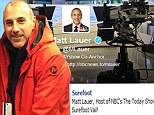 Great timing, Matt! Lauer pictured on vacation in Colorado as Today show loses ground to GMA during sweeps season