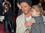 Trying snails yet? David and Victoria Beckham get Harper used to the French cuisine as they take her and the boys out for dinner in Paris