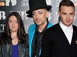 Family fun night out: Boy George brought his niece Molly Fitzpatrick to Wednesday night's Brit Awards