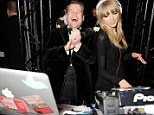 Spin that tune: Taylor Swift got the party going at The Universal Music Brits Party hosted by Bacardi at Soho House on Wednesday