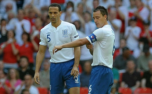 It's been a while: Ferdinand last played for England in June 2011 against Switzerland, alongside John Terry