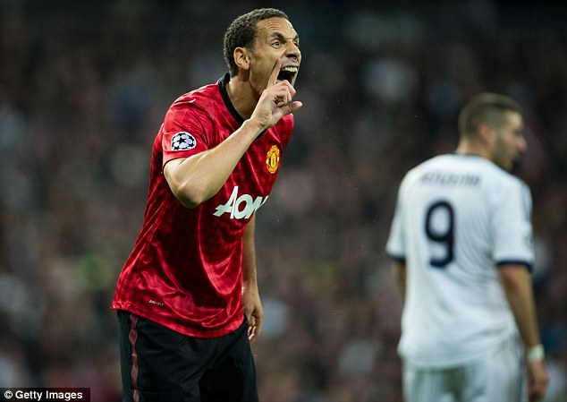 Not in with a shout: Rio Ferdinand is down the list of central defenders for England manager Roy Hodgson