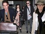 Helena Bonham Carter & her partner, Tim Burton, Sally Field and Eddie Redmayne arrive in LA