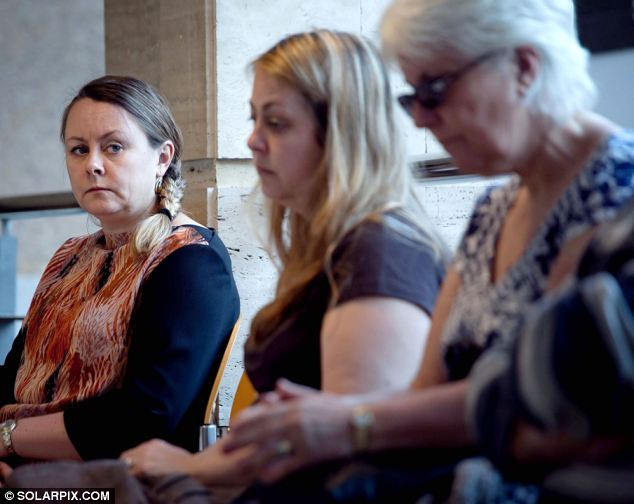 The daughters of deceased Jennifer Mills-Westley Sarah and Samantha listened to the defence lawyer toda