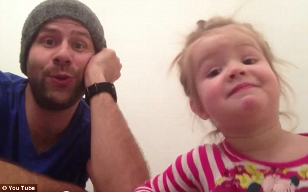 Proud father: Jesse Teeters uploaded a 51-second clip titled My Greatest Achievement to YouTube showing him singing a duet with his two-and-a-half-year-old daughter Lexi
