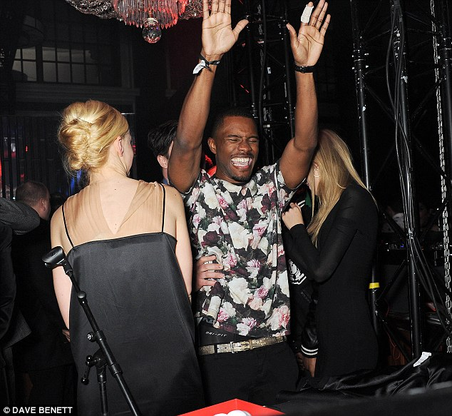 Raucous night: The star-studded crowd partied late into the night at the post-Brits Universal party