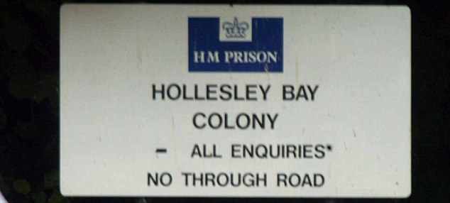 Open prison: Kenneth Gillespie had been serving a life sentence at Hollesley Bay in Woodbridge, Suffolk
