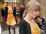 Singer Taylor Swift visits Kiss 100 Radio in London