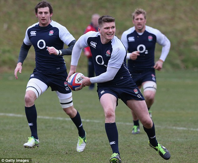 Main man: Owen Farrell will hope to orchestrate the downfall of France to make it three wins for England