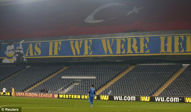 Empty stadium: Fenerbahce's tie with BATE Borisov was played behind closed doors