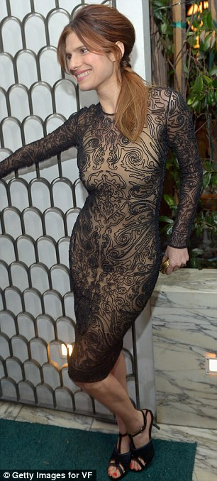 Decorative: Lake Bell put her own stunning slant on the trend for lace that just won't go away