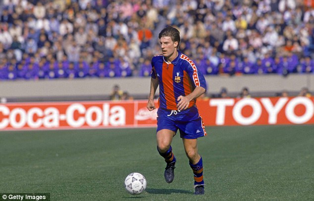 World class: Laudrup excelled at both Barcelona (above) and Real Madrid (below)