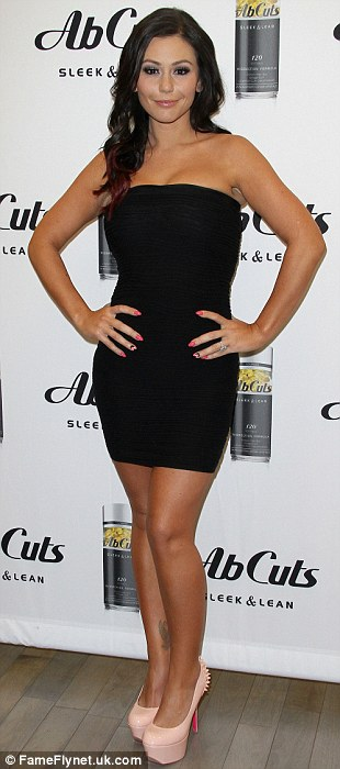 Jenni Farley (Jwoww) in store signing for AB CUTS SLEEK & LEAN BY REVOLUTION held at GNC in Santa Monica, California