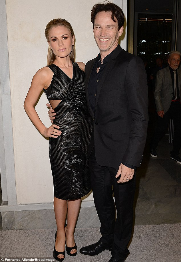 New parents: She and husband Stephen Moyer welcomed twins in September