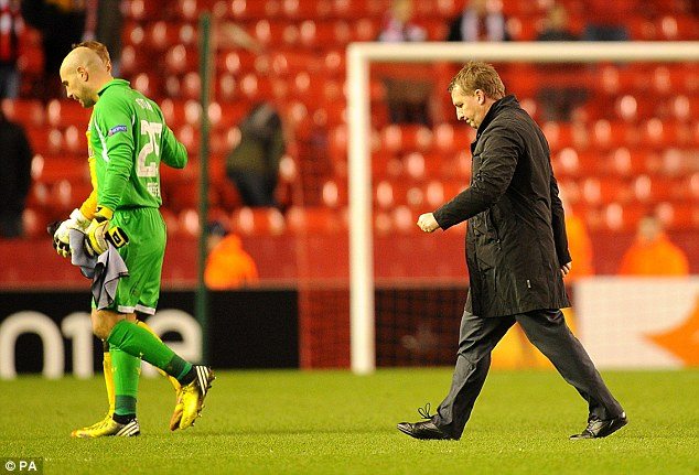 Big ask: Brendan Rodgers (right) has a tough job in persuading Suarez to stay at Anfield
