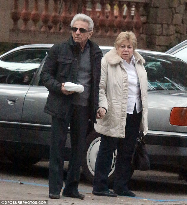 Proud grandparents: Shakira's parents William Mebarak and Nidia Ripoll were also in tow