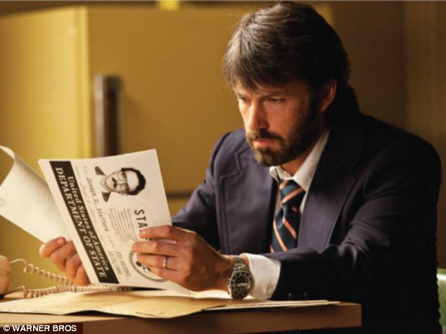 Ben Affleck in Argo, which he directed as well as starred in. Argo is one of Oscar nominated films Mark Crabtree worked on