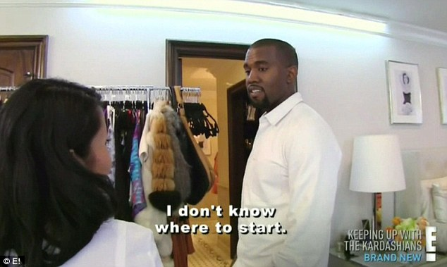 Criticised: Kanye was heavily criticised after first making an appearance on his girlfriend Kim Kardashian's reality show, Keeping Up With The Kardashians