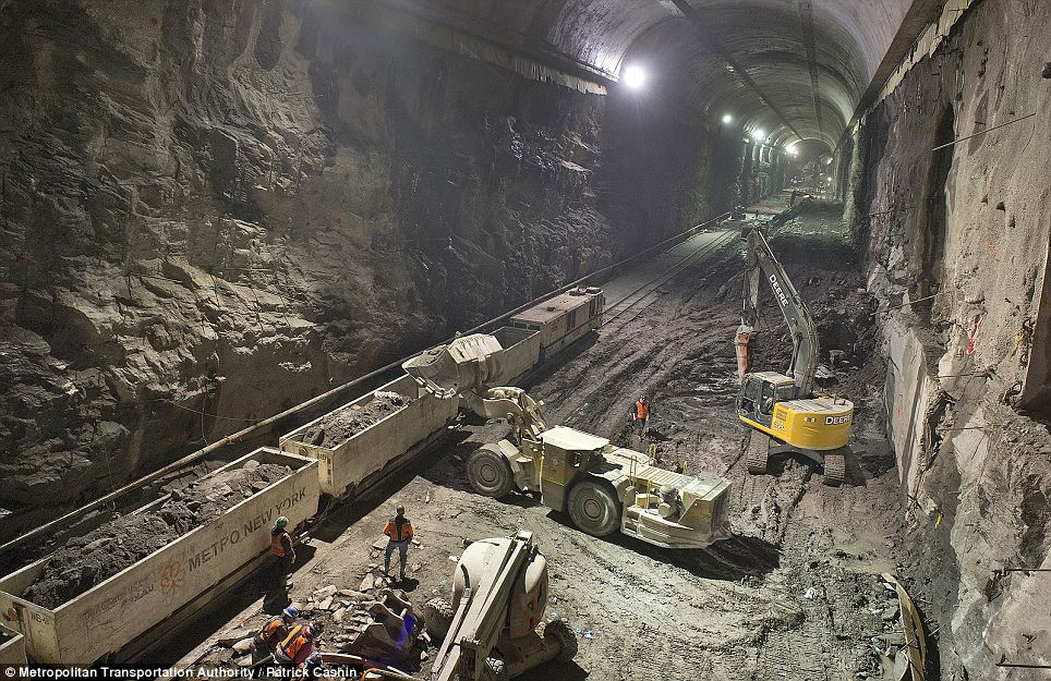 The new caverns will house a brand new LIRR line to Grand Central Terminal