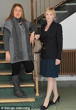 Injustice: Linda Jordan-Hay (left) and Elise Blake are both victims