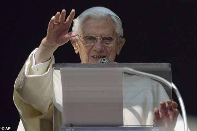 Crucial role: Mahony will take part in next month's papal conclave that will gather in Rome to elect the successor of the outgoing Pope Benedict XVI (pictured)