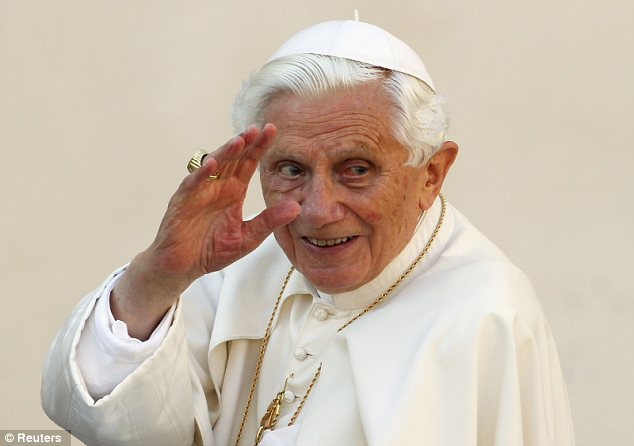 Top secret: Pope Benedict XVI decided that the contents of an investigation in to the scandal dubbed Vatileaks' will remain confidential