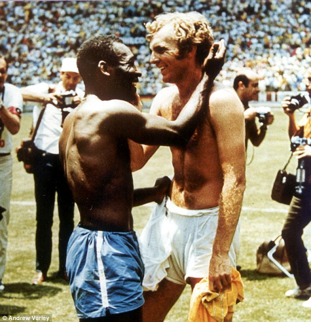 Iconic moment: Moore and Pele swap shirts in 1970