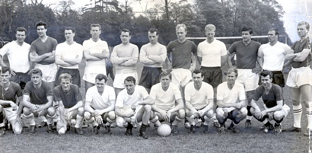 Fledgling years: Moore (back row, far right) and the rest of the 1962 World Cup squad - including the late Sir Bobby Robson (back row, third left)