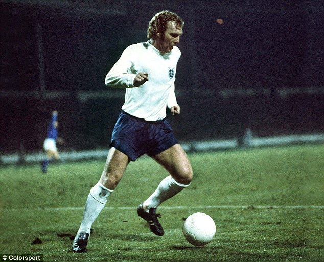 End of an era: Moore's 108th and final cap came in a 1-0 defeat to Italy in November 1973