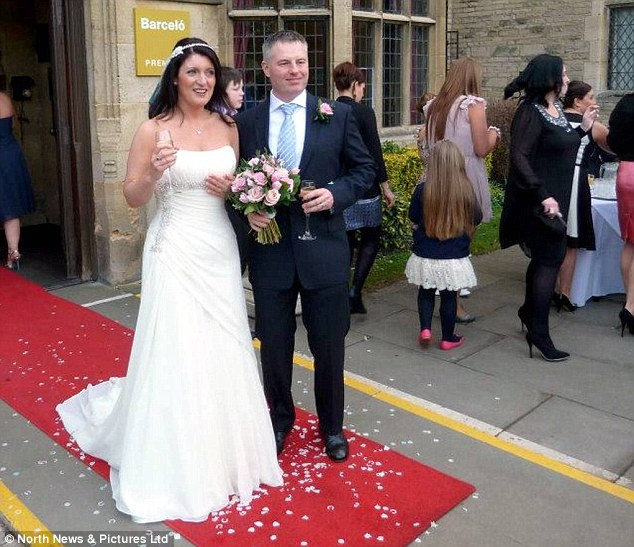 Bride and groom:  Annice and Glen were shocked they were called by the hotel which had organised their big day and told the wedding photos had been found