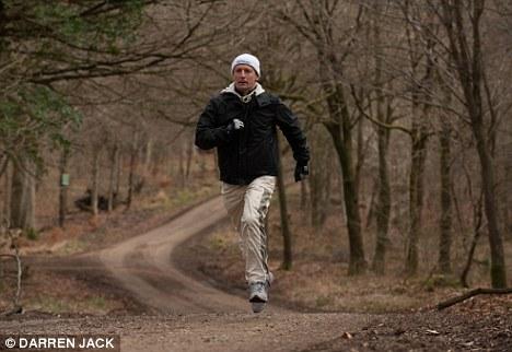 Running man: Steve Drowne is getting fit again
