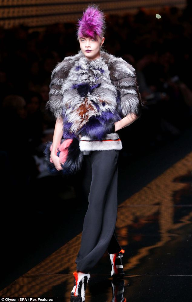 Impressive number of appearances: Cara has clocked up an impressive number of catwalk appearances over the last few weeks