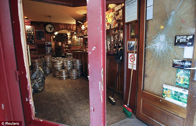 Under threat: Tottenham fans were attacked at the Smoking Dog pub in Lyon