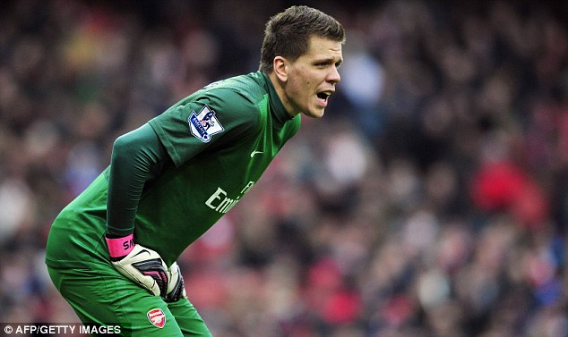 Clanger: Wojciech Szczesny was at fault for Aston Villa's equaliser on Saturday