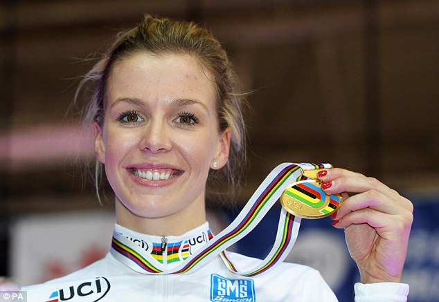 Golden girl: Becky James was crowned world champion in Minsk over the weekend