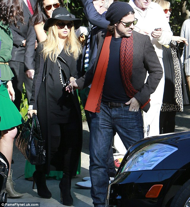 Chic: Rachel Zoe and husband Rodger Berman made a stylish couple as they left the party