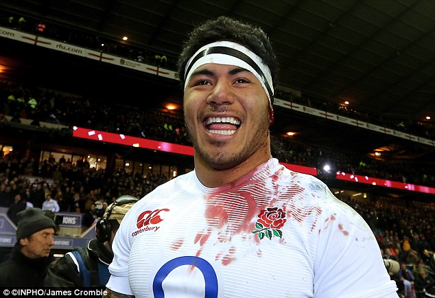 Star performer: Manu Tuilagi was outstanding for England on Saturday