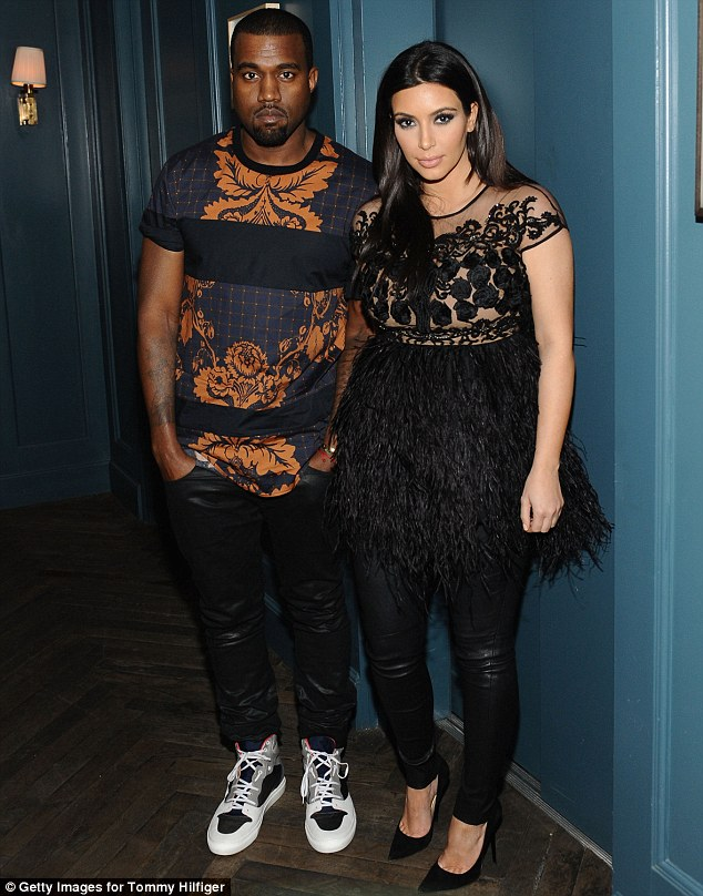 Father-to-be: His girlfriend Kim Kardashian is pregnant with their first child