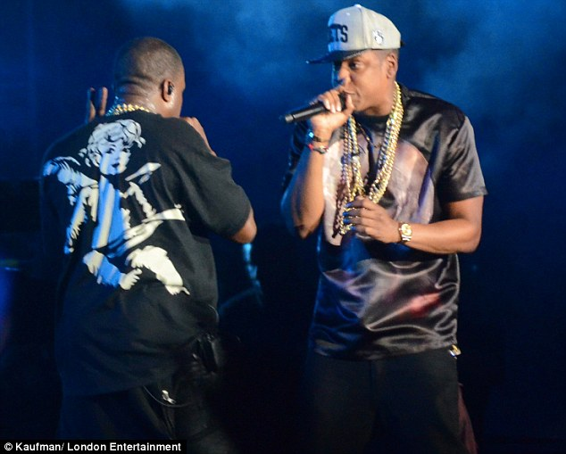 Bromance: Jay-Z and Kanye teamed up for the Watch the Throne album and tour