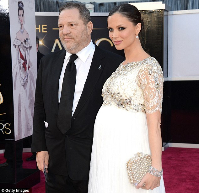 Hollywood couple: Ms Chapman already has a two-year-old daughter with her movie mogul husband Harvey Weinstein - the pair met in 2004 and were married in Connecticut three years later