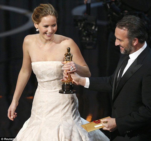 It was all worth it: Jennifer accepts her Best Actress Oscar