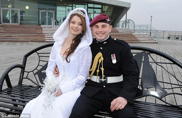 Happy couple: Emma and paratrooper Ian said they has a perfect day