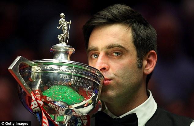 Champion: In 2012 Ronnie O'Sullivan won his fourth world title