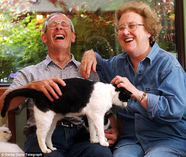 Animal lovers: Michael and Shirley Maynard set up a charity for cats in their home